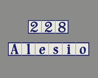 CUSTOM LISTING For SARA, Custom House Number Street Name Address Tiles, Custom Size and Colors