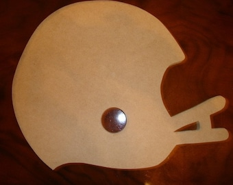 Football Helmet 12 inch wide and 11 1/2 inches tall 1/2 inch thick unfinished mdf Wood