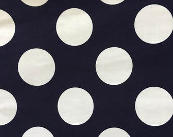 Large white  dot cotton fabric.