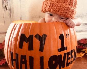 Infant Pumpkin Crochet Hat