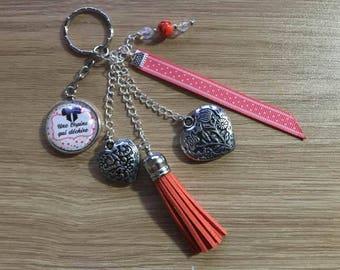 """key / jewelry bag """"a friend who rocks"""""""