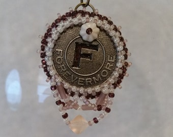 Forevermore Bead Embroidery Necklace - 02F45