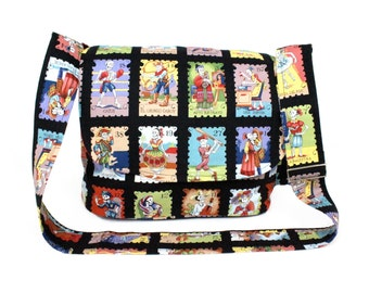 Cartas Marcadas Day of the Dead Messenger Bag