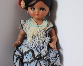 Vintage Spanish doll, Antique souvenir doll, collectible doll, Flamenco dancer doll, vintage doll, antique doll, Spanish doll