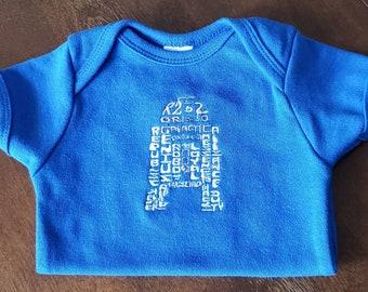 R2D2 baby bodysuit