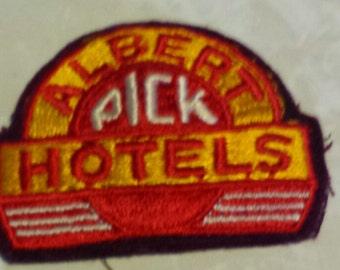 Vintage 19 40's hotel uniform patch