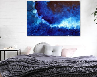 Blue Bay Abstract large xxl art painting