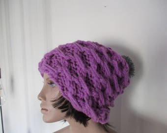 Handknitted  hat, for woman, for you, for gift.