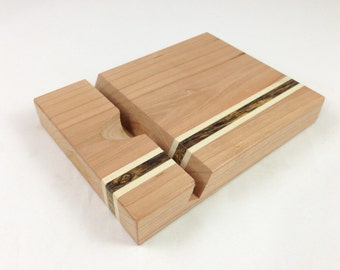 Cherry Wooden Tablet Stand for iPad 2/3/4, Kindle Fire, Microsoft Surface, Galaxy Tab and others.
