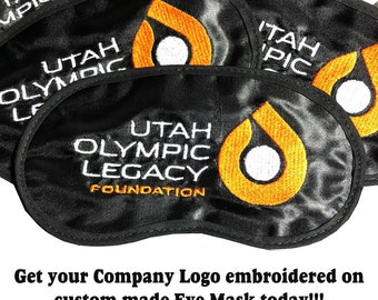 Get Custom Company or Organization Logos Embroidered on custom Eye Mask Today! - favorite on pinterest tumblr instagram polyvore