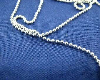 10 Feet Unfinished Sterling Silver 3mm Ball Chain Bulk on spool, Smooth Beads