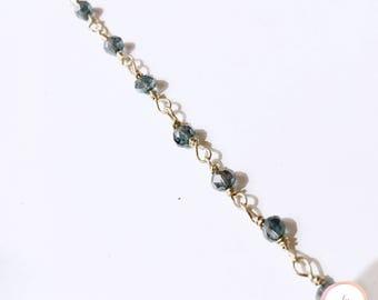 Czech glass beads & gold Rosary bracelet