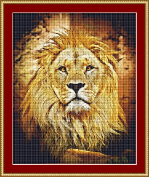 Lion's Mane Cross Stitch Pattern /Digital PDF Files /Instant downloadable