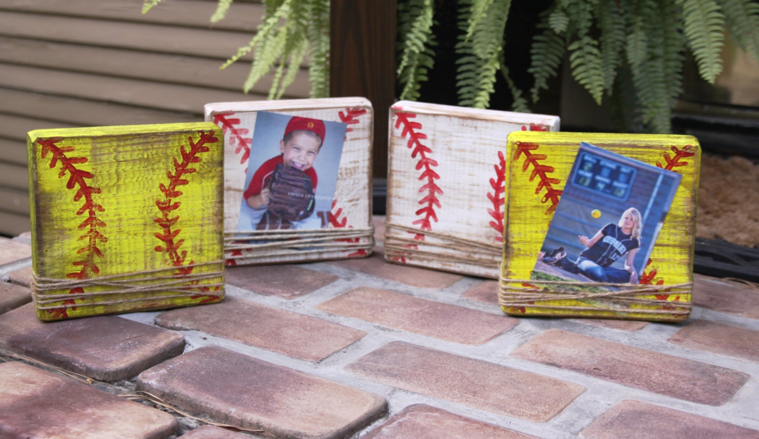 Baseball frame; Softball frame; baseball block picture frame; kids ...