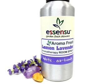Lemon Lavender Aroma Fresh Aromatherapy Non-Toxic Room Spray | Uplift Your Spirits | Cleansing Aura Spray | Room Freshener | Eliminate Odors