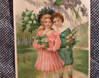Vintage 1908 Valentine Greeting Postcard No. 311