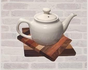 Rustic Wood Trivet, kitchen decor. Set of two Wood Pot Holders.  Sku: 407