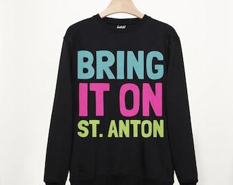 St Anton Retro Apres Ski Alpine Slogan Sweatshirt