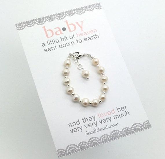 childrens birthday present for beaded personalized bracelets silver jewelry baby bracelet girl images gifts girls pearls on best pink anya first gift sterling names pinterest little name infant