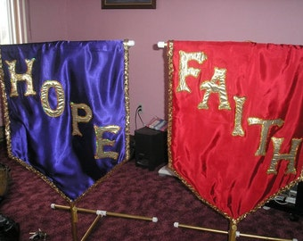 SET OF 2 Hope and Faith 3 foot banners price for BOTH