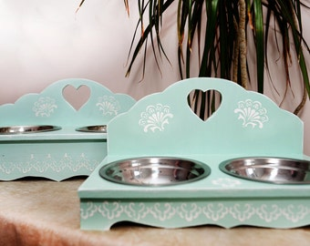 Cat feeder Cat feeding station Cat bowl Cat bowl holder Cat elevated feeder Food stand Wooden cat feeder Double cat feeder 2 bowl cat feeder