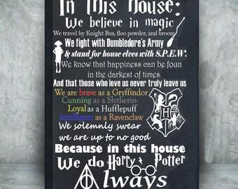 Harry Potter canvas//Harry Potter art//Harry Potter Decor//We do Harry Potter//Canvas Art//Harry Potter Gift//geek decor//geek sign