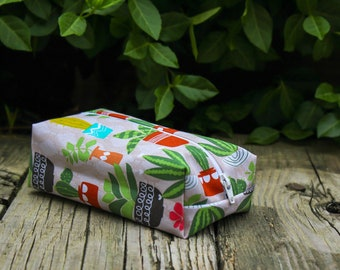 Cactus Ferns Makeup Bags, Cactus Cosmetic Bags, Cactus Gifts, Customized Bag, Personalized Bag, Cactus Zipper Bag, Makeup Organizer