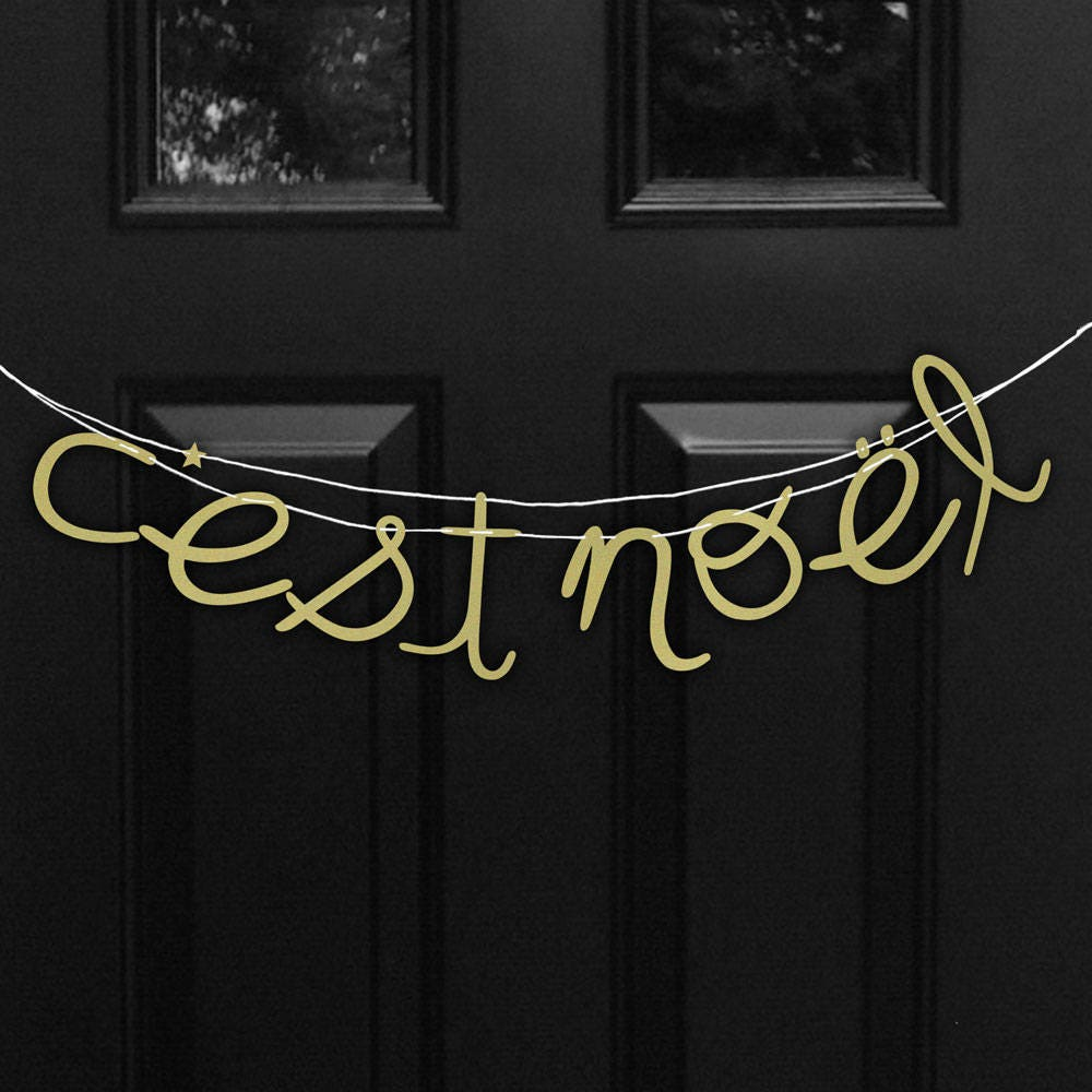 C'est Noel - This Is Christmas | Christmas Banner