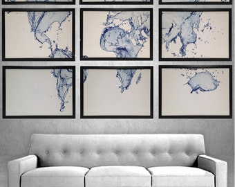 Framed world map world map art black sepia world map large world map framed 9 pieces total water splash map framed in black all wood picture frames 555x 3975 framed wall art water map gumiabroncs Image collections
