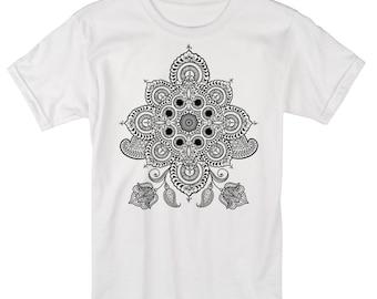 Men's REVEALS Mandala Shirt Sacred Geometry Dotwork Tattoo Style Psychedelic T-Shirt