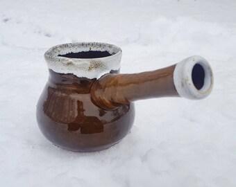Coffee Makers Pottery cezve Small cezve Ceramic cezve Ceramic coffee pot Coffee maker Hand made coffee pot Art pottery Kitchen dish