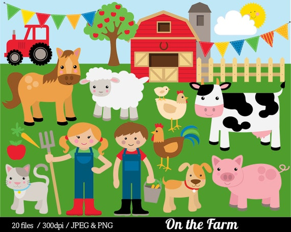 Farm Animal Clipart Farmyard Clip Art Barn Farmer Horse