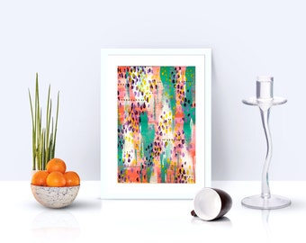 Leopard - abstract - originale - abstract paint