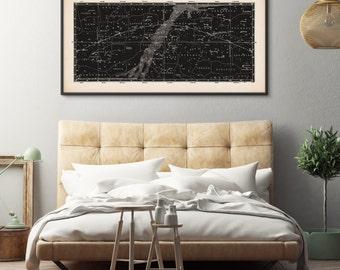 Star Map, Framed Art, Constellation Art, Star Map Print, Above Bed Art, Star Chart, Constellation Print, Celestial Map, Astronomy Print