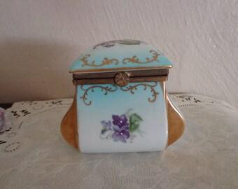 Japan~Ardco~ Violets Trinket Jar~ Unusual!