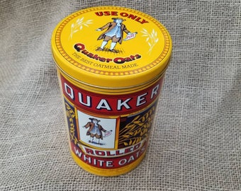 Quaker Oats Vintage Canister Tin 1984