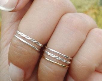 Minimalist ring set Etsy