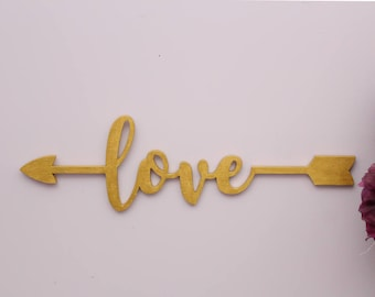 Love Wood Sign, Love Arrow Sign, Girls Room Decor, Love Wall Decor, Wood Arrow Sign, Wedding Decor, Gallery Wall Art, Valentines Day Gift