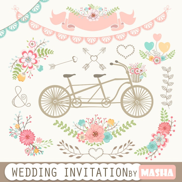 Wedding Invitation Clipart: \