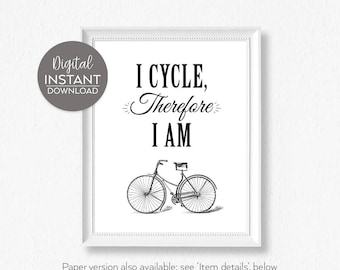 Gifts for cyclist / Bicycle wall art / Bicycle art / Cyclist gift for him / Bicycling gift him / Gift for cyclist him / her / FILE DOWNLOAD