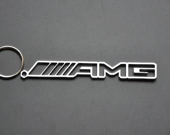 AMG Mercedes Keychain Schlüsselanhänger Edelstahl