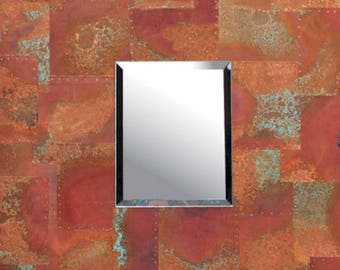 Medium Patchwork Mirror - Rojo