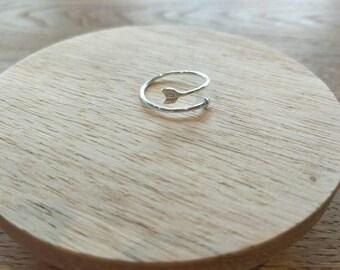 Sterling Silver Arrow Ring/Adjustable Sterling Ring/Sterling Silver Ring/Wrap around Ring