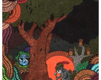 Monkey Traveller Giclee Print