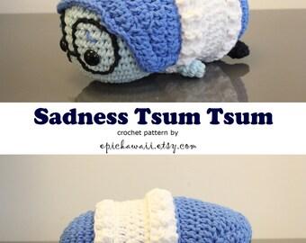 PATTERN: Sadness Tsum Tsum Crochet Amigurumi Doll