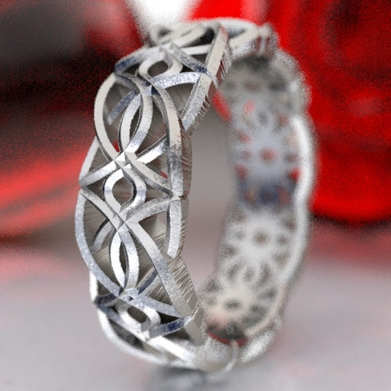 Celtic Knot Design in Sterling Silver, Made in Your Size CR-113