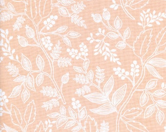 Queen Anne Peach Les Fleurs by Rifle Paper Co for Cotton and Steel Fabric #8005-02
