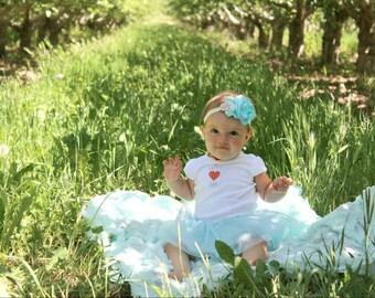Baby blue and ivory lace headband, vintage blue headband, lace and pearl headband, amberlaurenboutique, vintage baby headband