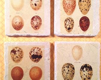 Marble coasters - vintage eggs