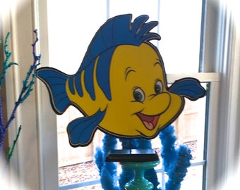 Little Mermaid Flounder Centerpieces (Double-Sided)